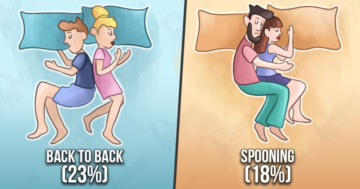 Sleeping positions and their meanings for couples